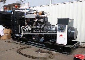 800KW上柴动力柴油发电机组检测出厂
